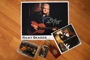 Ricky Skaggs signed package