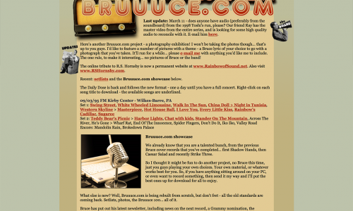 Bruuuce.com 20 years old today