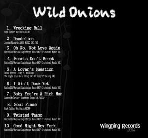 Wild onions back panel