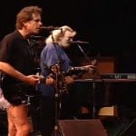 Bob Weir, Jerry Garcia and Bruce Hornsby